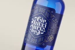 Gin basque untxi zuria bleu juin