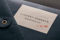 Clement Herbaux Photographe Bleu Juin Logo Identité Visuelle