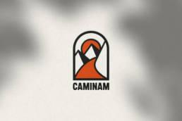 caminam logo bleu juin